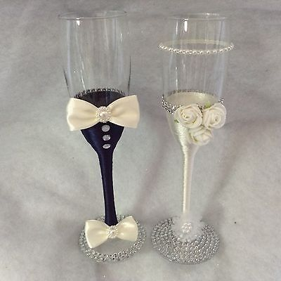 Mr and Mrs Gorgeous Wedding Champagne Flutes - Perfect Wedding Gift