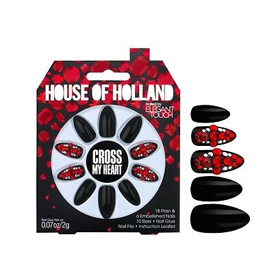 House of Holland Elegant Touch False Nails - Cross My Heart