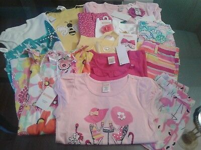 Nwt $298 Rv Gymboree Outlet Girls 17 Pcs  Lot Outfits Sets Size 6 Summer