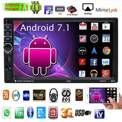 """2DIN 7"""" Dual Core Android 6.0 3G WIFI Car Radio Stereo MP5 Player GPS Navigator"""