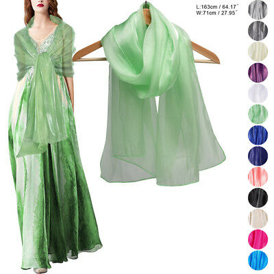 Weddings Bridal Bridesmaid & Evenings Silky Iridescent Chiffon Wrap Stole Shawl