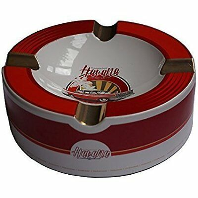 "Old Havana Cars Cigar Ashtray - Red Velvet (10"" x 3 1/4"")"
