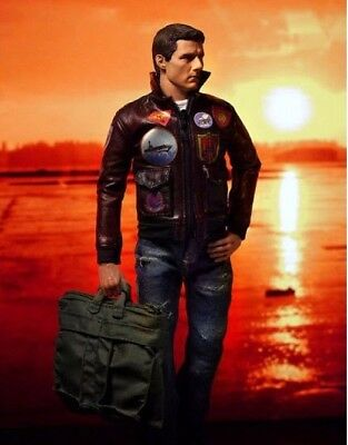 Tom Cruise Pete Maverick Top Gun Flight Bomber Real Leather Jacket