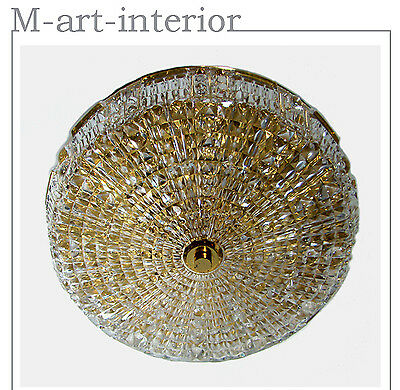 """very rare Flush Mount Crystal Ø 15,4"""" Chandelier by Carl Fagerlund for ORREFORS"""