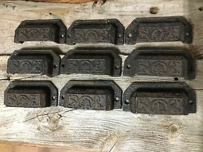 Lot Of 20 new Ornate Cast Iron Industrial Tool Seed Index File Bin Pull Handles