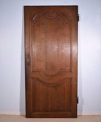 "94"" Tall Antique French Oak Wood Door from the 1700's or early 1800's"