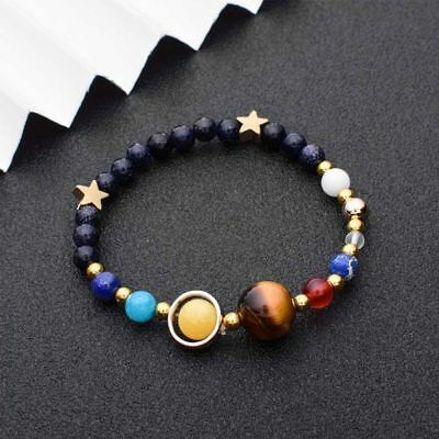 Stone Guardian Star Universe Galaxy Gift Beads Bracelet Fashion Jewelry Bangle