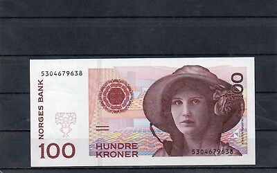 NORWAY Europe 100 Kroner 1998 UNC p-47a Scarce Banknote