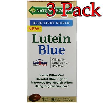 Nature's Bounty Lutein Blue Softgels, 30ct, 3 Pack 074312763922A1061