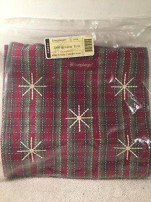 Longaberger 2009 Holiday Tote Bag Purse Holiday Christmas Plaid NEW IN PLASTIC
