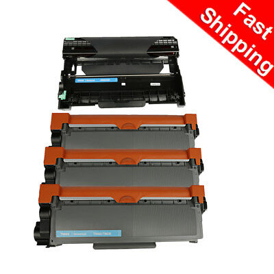 4PK Brother TN660 Toner DR630 Drum For Brother MFC-L2740DW HL-L2300D Black Ink