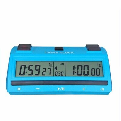 Digital Chess Clock Count Up Down Timer Lake Blue For Game Competition