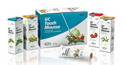 2x, 3x, 4x GC Tooth Mousse 40g Tubes - Mint, Strawberry & Vanilla. From $27.50ea