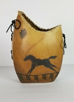 Horse Vase Collectable Cave Painting HandCrafted Southwestern Tribal Lacing
