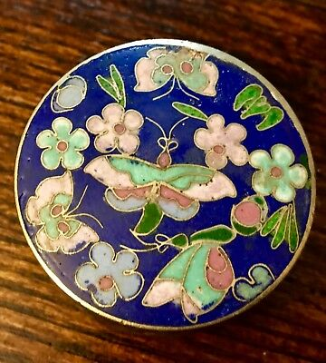 Antique Chinese Cloisonne and Enamel Opium / Tea Caddy Trinket Box