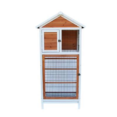 Finch Conure Bird Cage Wooden Cockatiel Parakeet Canary Pet Supply Play House W
