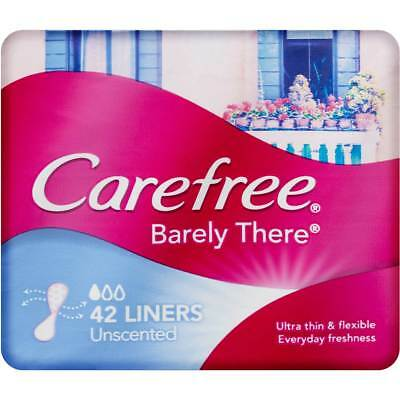 Carefree Panty Unscented Liner Barely Shaped For G-String 42 Ultra Thin Flexible