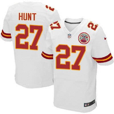 KAREEM HUNT  27 Kansas City Chiefs Men s White Road Game Jersey ... 361482602