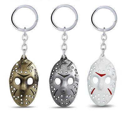 Friday The 13th Keychain Horror Jason Voorhees Mask Key Ring Movie Cosplay Prop