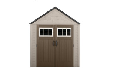 Rubbermaid Big Max 7 ft. x 7 ft. Storage Shed Plastic Sheds Shelving Garden/Tool