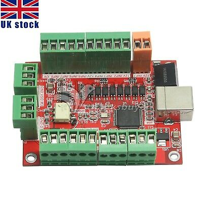 100Khz Breakout Board 4 Axis CNC USB Card MACH3 Driver Motion Controller UK Ship