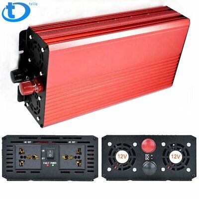 Portable Car LED Power Inverter WATT DC 12V/24V to AC 110V Charger Converter USA