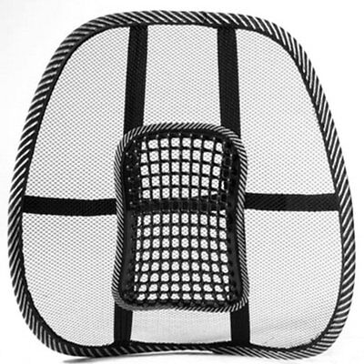 Mesh Back Lumbar Support Massage Beads For Car Seat Chair Massage Cushion J3W6