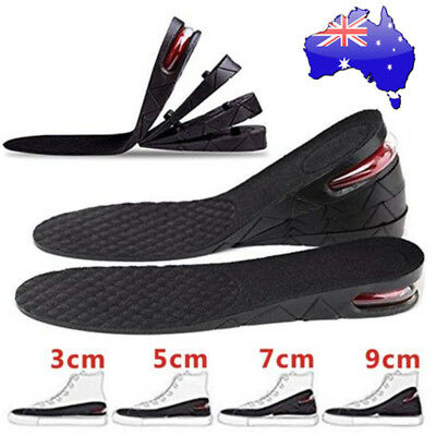 AU New Shoes Height Insoles Increase Heel Air Cushion Gel Insert Taller Lift Pad