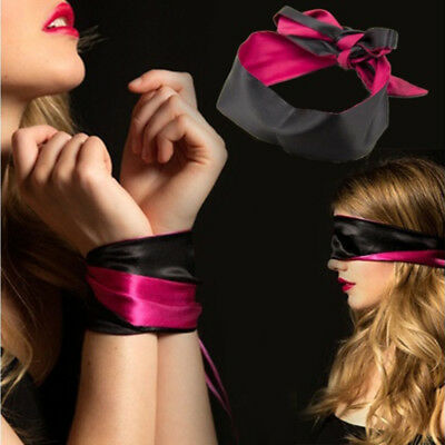 Adult Lover Toy Eyeshade Hands Tied Satin Bandages Sexy Cosplay Fashion Salable