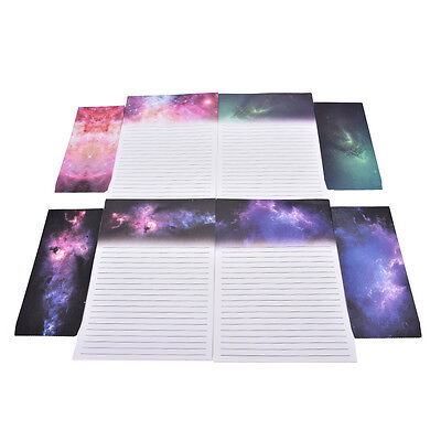 Starry Sky Writing Letter Set Stationary Papers & Envelope for PostcardFT
