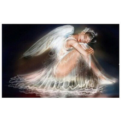 5D Fairy Angel Girl Diamond Painting Embroidery DIY Cross Stitch 40x25cm U2M3