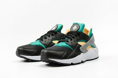 NEW Nike Air Huarache Mens Running Shoe 318429 018 Black Emerald Resin ALL SIZES