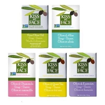 Kiss My Face Pure & Natural Soap Bar 230g for All Skin Types