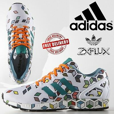 competitive price b0338 166c8 ADIDAS ORIGINALS MENS ZX Flux Running Shoes Torsion Casual Trainers Multi  Colors