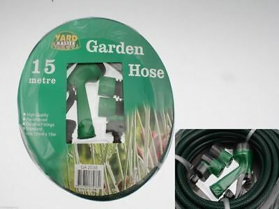 6 x Garden Hose 15M & reel with fittings bulk wholesale lot