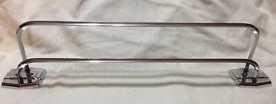 "VINTAGE DOUBLE AUTOYRE, FAIRFIELD PATTERN 1950's, 20.5"" CHROME TOWEL BAR"