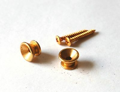 Aged Gold Strap Button Set F Style fits to Strat ®