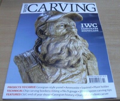 WoodCarving magazine Jan/Feb 2018 IWC Congress Showcase  + Ammonite, Squirrel