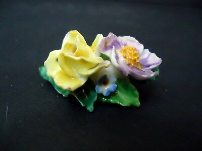 Vintage Bone China Floral Brooch Pin Made in Chelsea England Flower Brooch