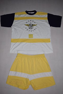Vintage Anzug Yachting Sommer Beach Outfit Short Vintage Anker Karneval 90s L-XL