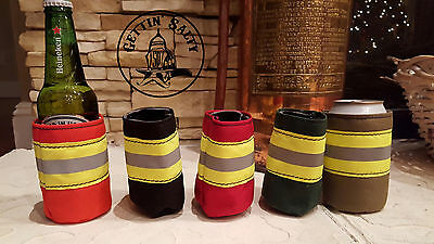 TAN Firefighter Bunker Gear Style COOLER COOZIE COOLIE KOOZIE
