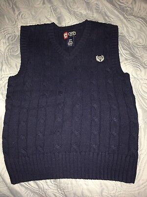 Chaps Boys Blue Size 8 Cable Knit Sweater Vest