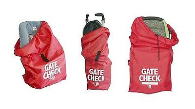 JL Childress Airport Travel Gate Check Bag For Car Seat Stroller Buggy Red