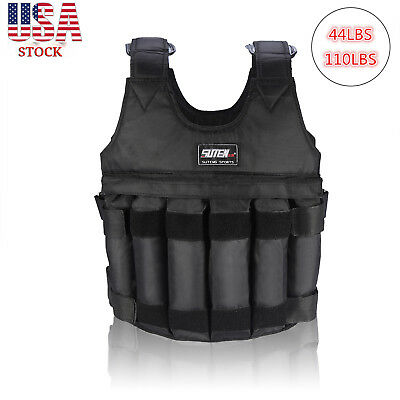 Adjustable Workout Weight 44LB 110LB Weighted Vest Exercise Training Fitness USA
