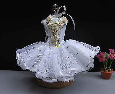 Tutu, Ballerina Ballet Outfit Costumes for Barbie, Doll Clothing Handmade White