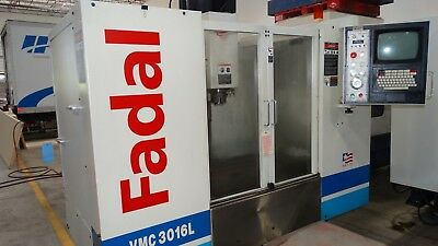 Used Fadal VMC 3016 L CNC Vertical Machining Center Mill 88HS Rigid Tap CT 1999