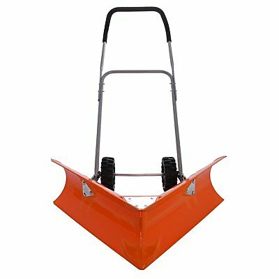 Ivation Dual Angle Snow Pusher – Manual Push Plow for Walkways, Sidewalks, Sto