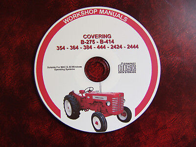 International Harvester B275 B414 354 364 384 Workshop Service Repair Manual