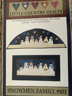 Pattern quilting quilt SNOWMEN FAMILY snowman Christmas wallhanging applique