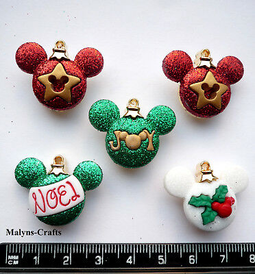 Disney MICKEY ORNAMENTS Craft Buttons 1ST CLASS POST Christmas Decorations Mouse